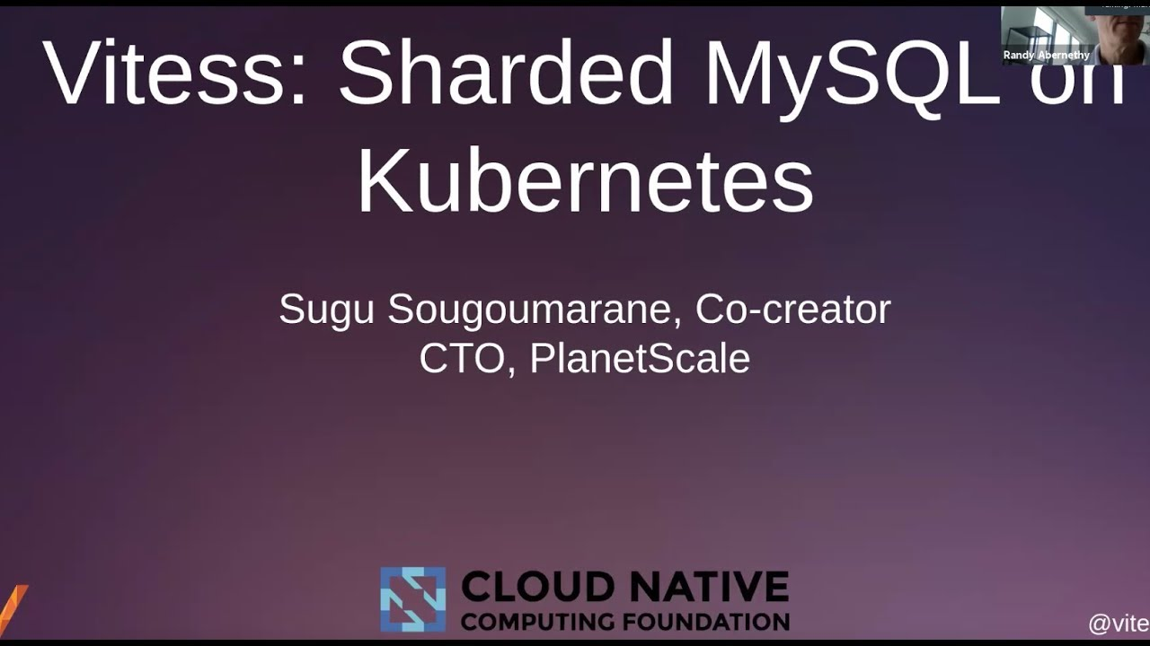 Vitess Sharded Mysql On Kubernetes Cloud Native Computing