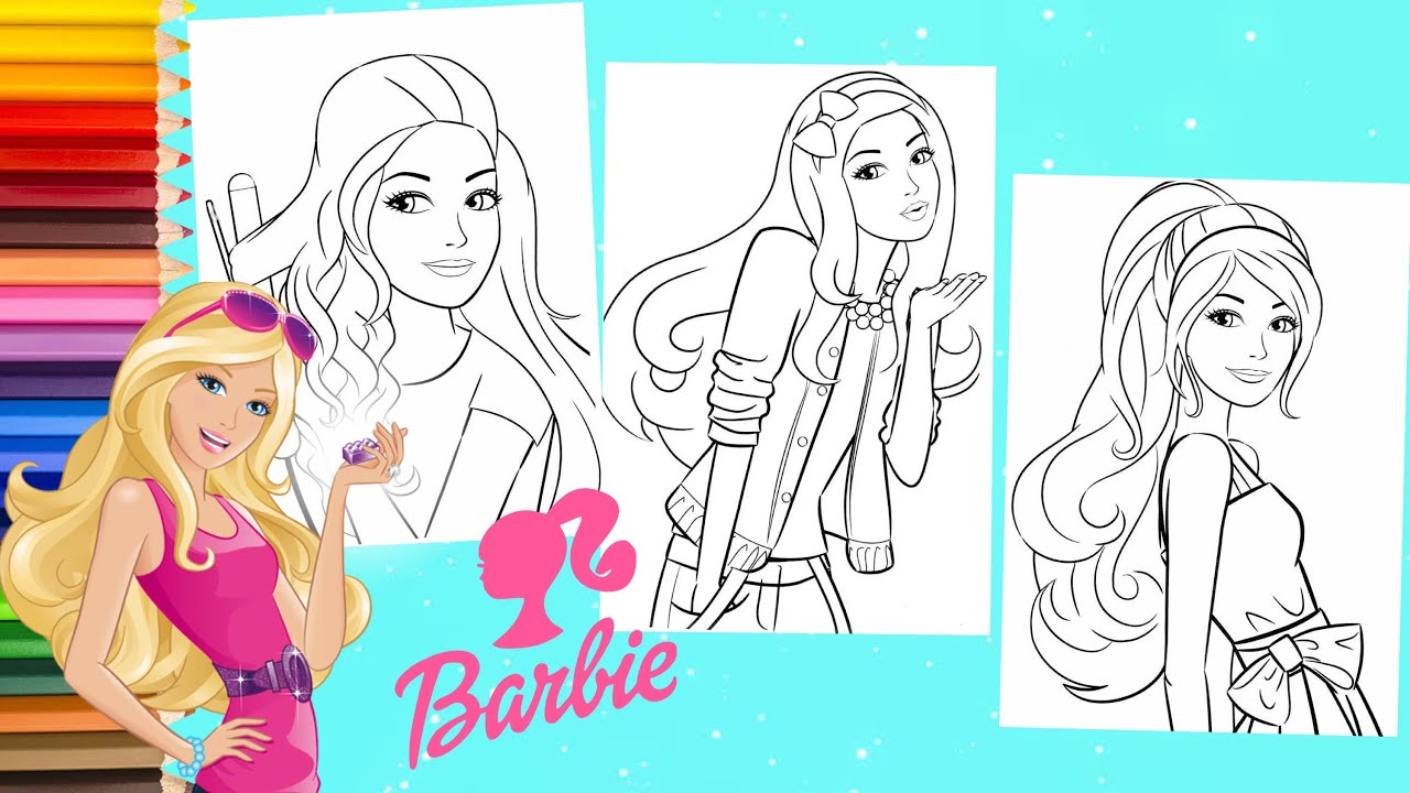 How to Color Barbie Dreamhouse Coloring Book - Barbie Coloring Pages