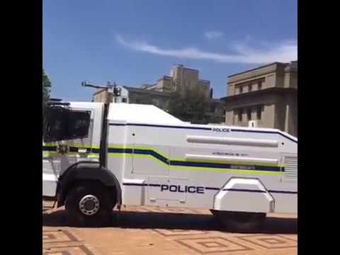 University of the Witwatersrand students clashing with the police over #FeesMustFall2016 #wits