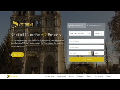 Create taxi website using wordpress and vtc theme