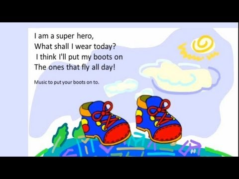 A song for kids  I am a superhero.