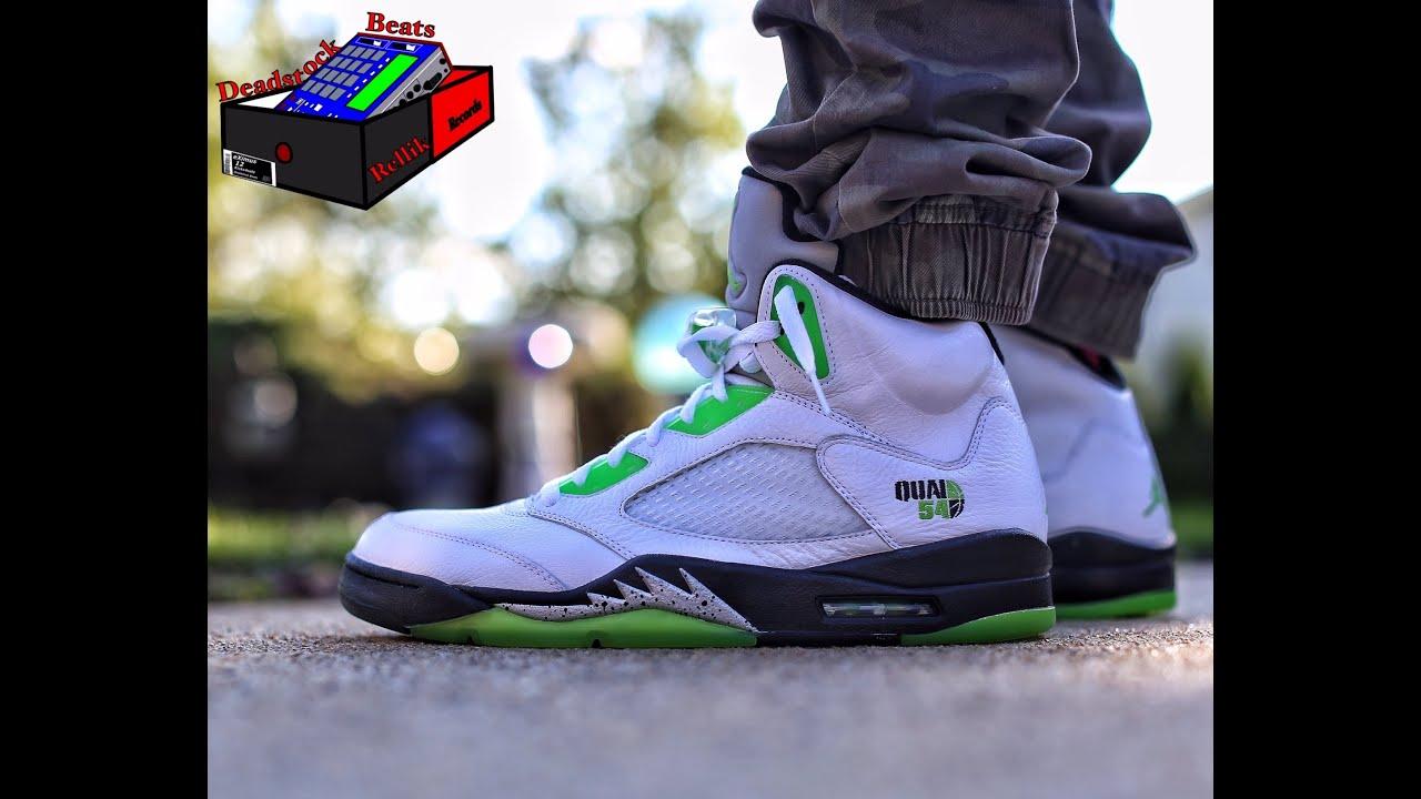 Jordan 5 Quai 54 on feet - YouTube 2109e7838371