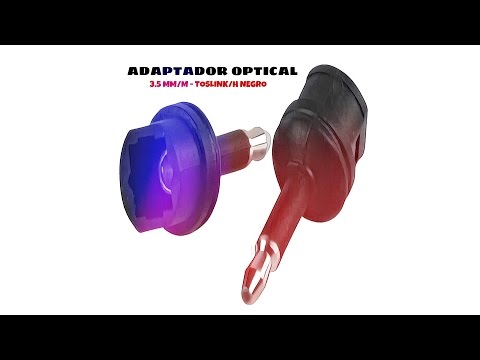 Video de Adaptador Optical 3.5mm /M - TosLink /H  Negro
