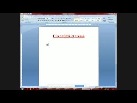 Le clavier: le circonflexe et le trema