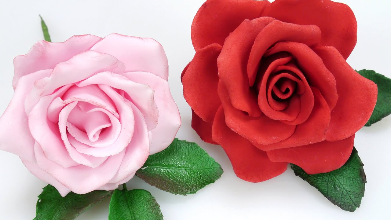 How To Make A Beautiful Sugar Rose Youtube