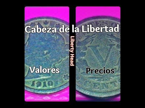 Moneda Cabeza de la Libertad (Liberty Head) // Valores y Precios