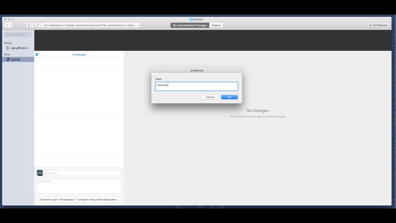 Github Desktop - DOM XSS