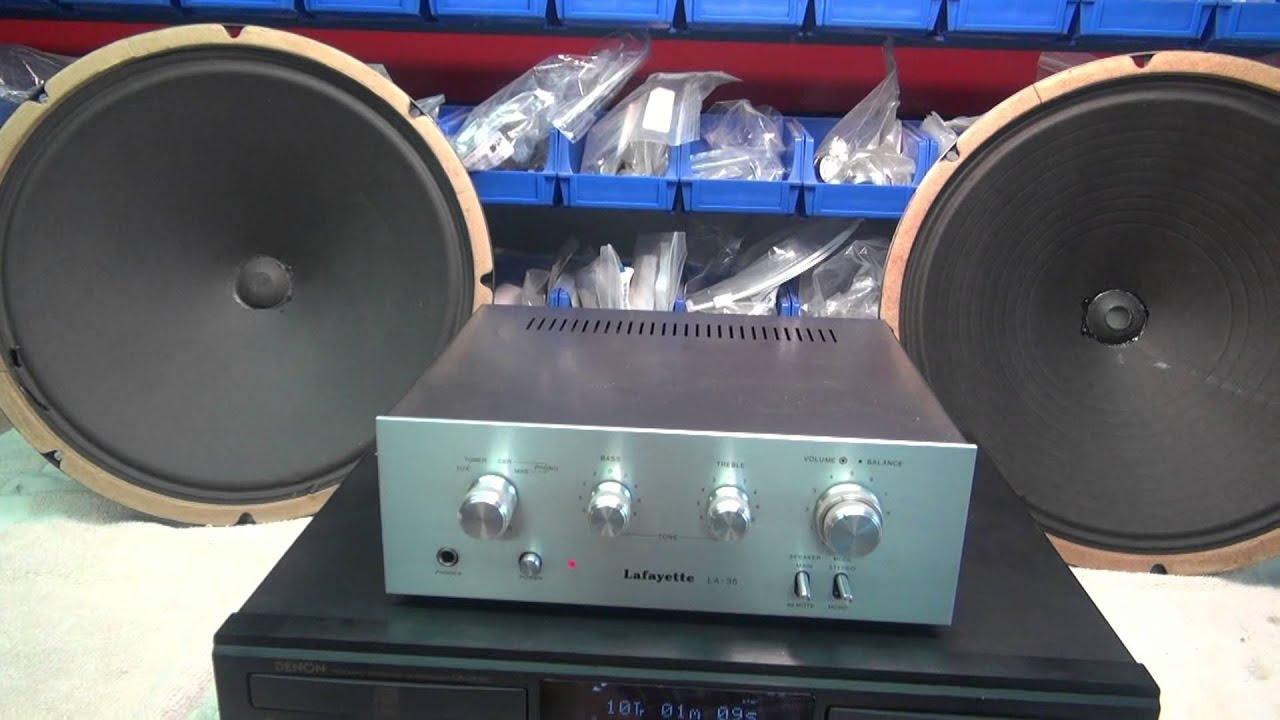 Vintage jensen 15 paper cone speakers lafayette amp denon for Lafayette cds 30