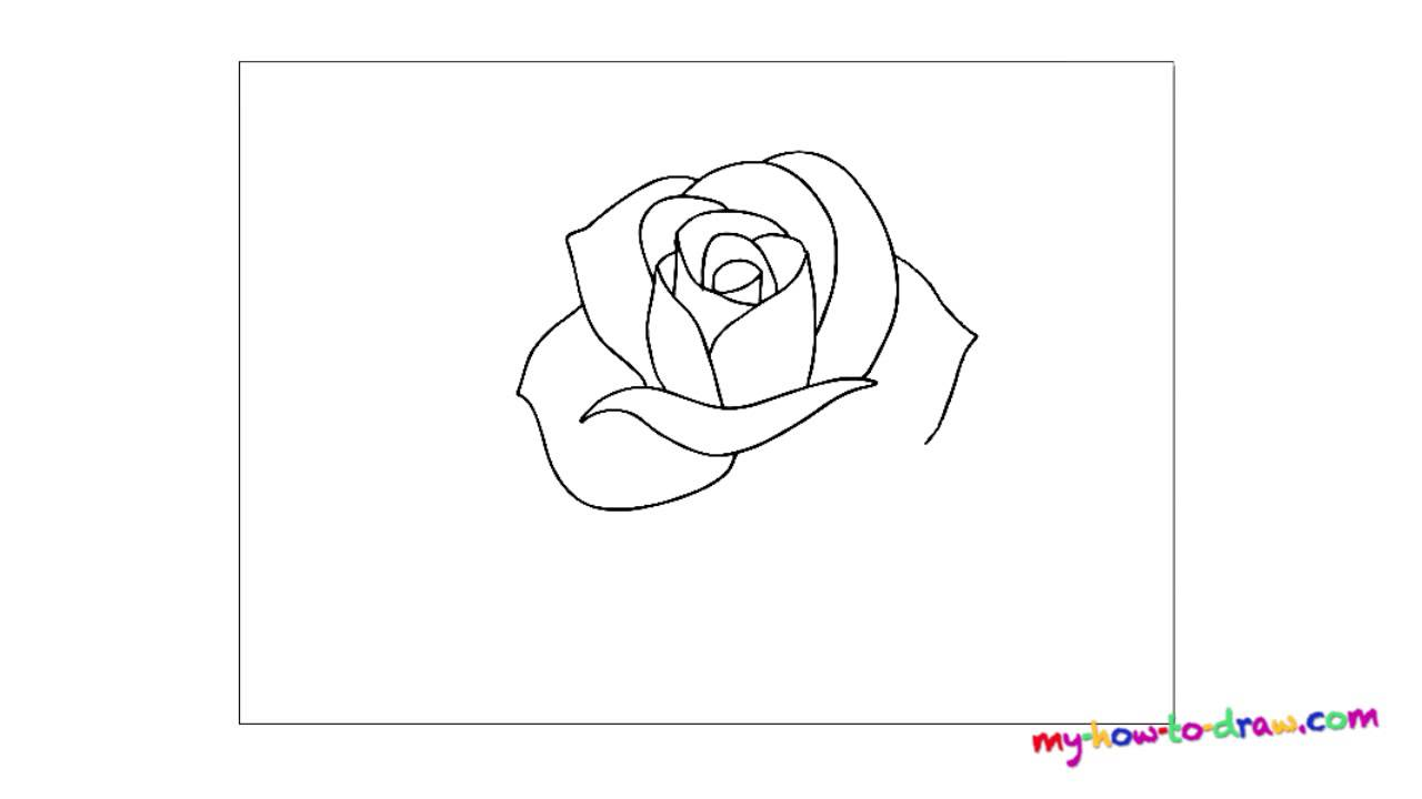How To Draw A Rose Easy Step By Step Drawing Lessons For