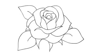 How to draw a rose - Easy step-by-step drawing lessons for kids thumbnail