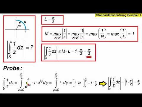 Komplexe Integration Standardabschatzung Beispiel 1 Youtube