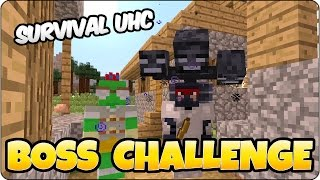 Minecraft UHC Survival All 3 Boss Battles - PS3, PS4, Xbox One, Xbox 360 & Wii U