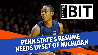 Michigan Wolverines at Penn State Nittany Lions | Sports BIT | NCAAB Picks