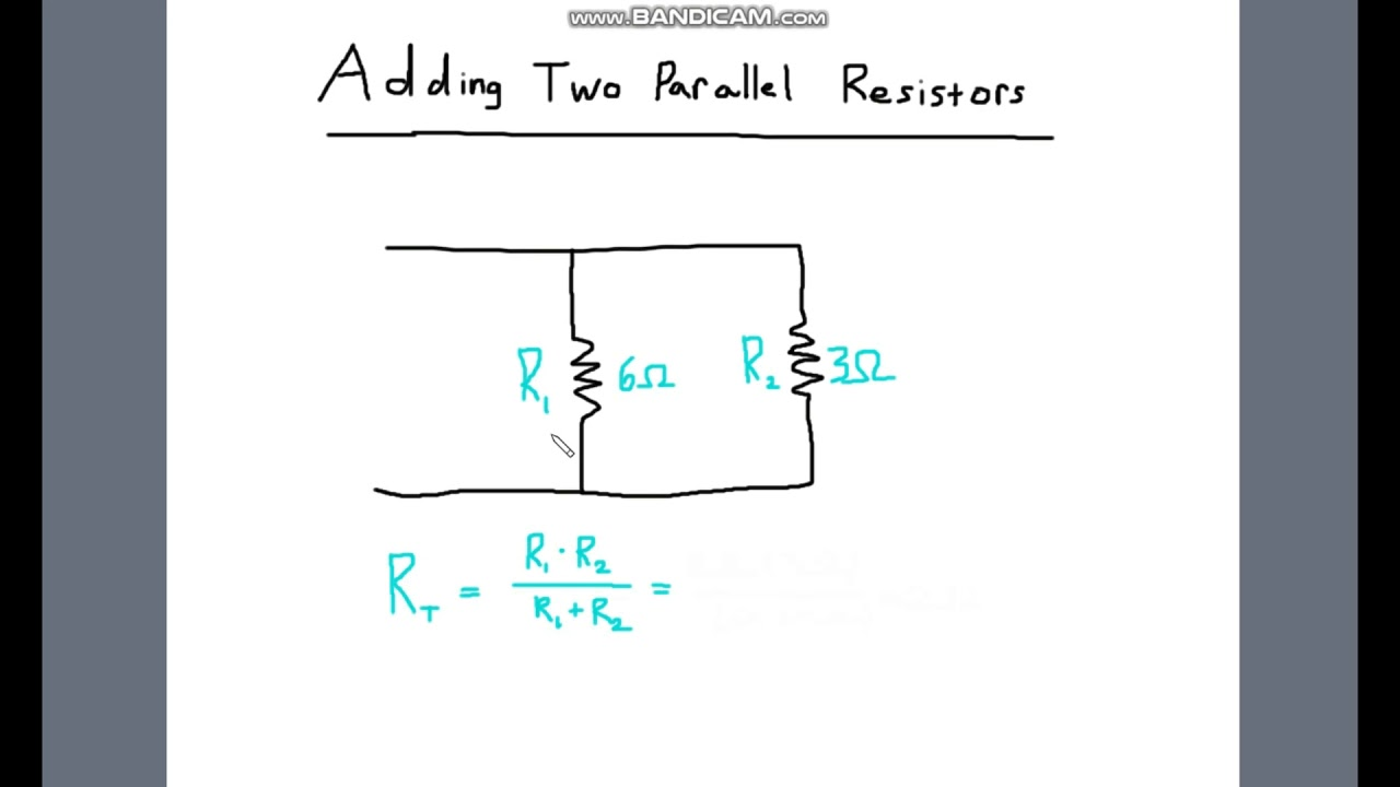 Formula For Resistance In Parallel Circuit Adding A Resistor Wiring Diagram And Ebooks Shortcut Two Resistors Dc Circuits Youtube Rh Com Resistive Inductive Product Over