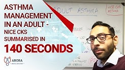 Asthma Management in an Adult - NICE CKS summarised in 140 seconds