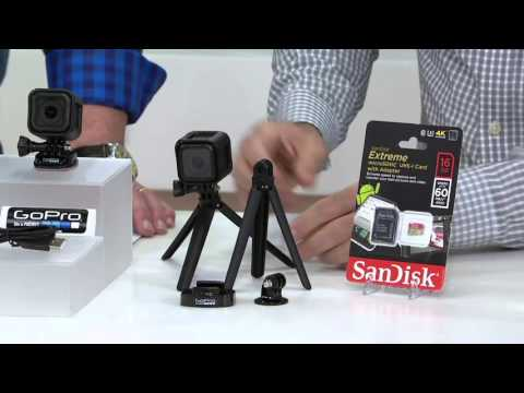 GoPro HERO4 Session Camera, SanDisk Extreme 16GB SD Card & GoPro Tripod on QVC