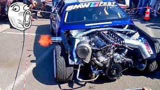 Anti Lag Custom Bmw E30 swap M5 Turbo by Powerfanatics-Garage - Tuning Show 2017 #1