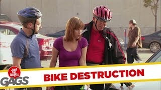 Bike Destruction Prank