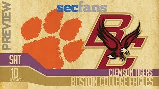 Clemson vs Boston College - Preview & Prediction (Computer Model) 2018 College Football