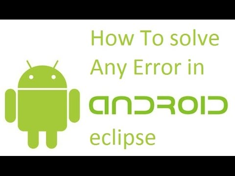 Error in eclipse - an error has occured, see the log files [solved]
