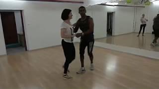 """Мишель и Настя танцуют сальсу под песню """"Mi Mulata En La Habana"""" Maykel Blanco Y Su Salsa Mayor"""