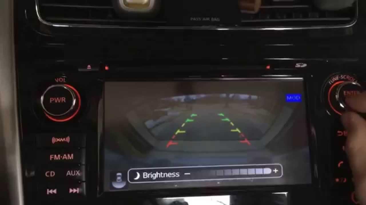 Adjusting backup camera brightness on a 2013 Nissan Altima ...