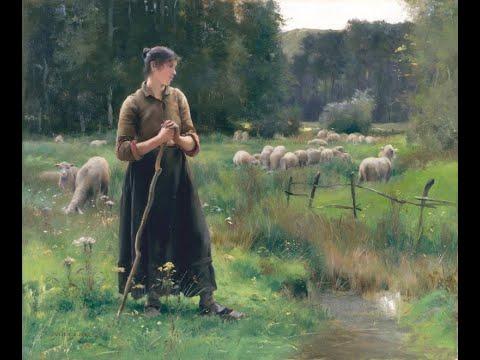Julien Dupré (1851 - 1910) French painter ✽ Ernesto Cortazar / Nightingale