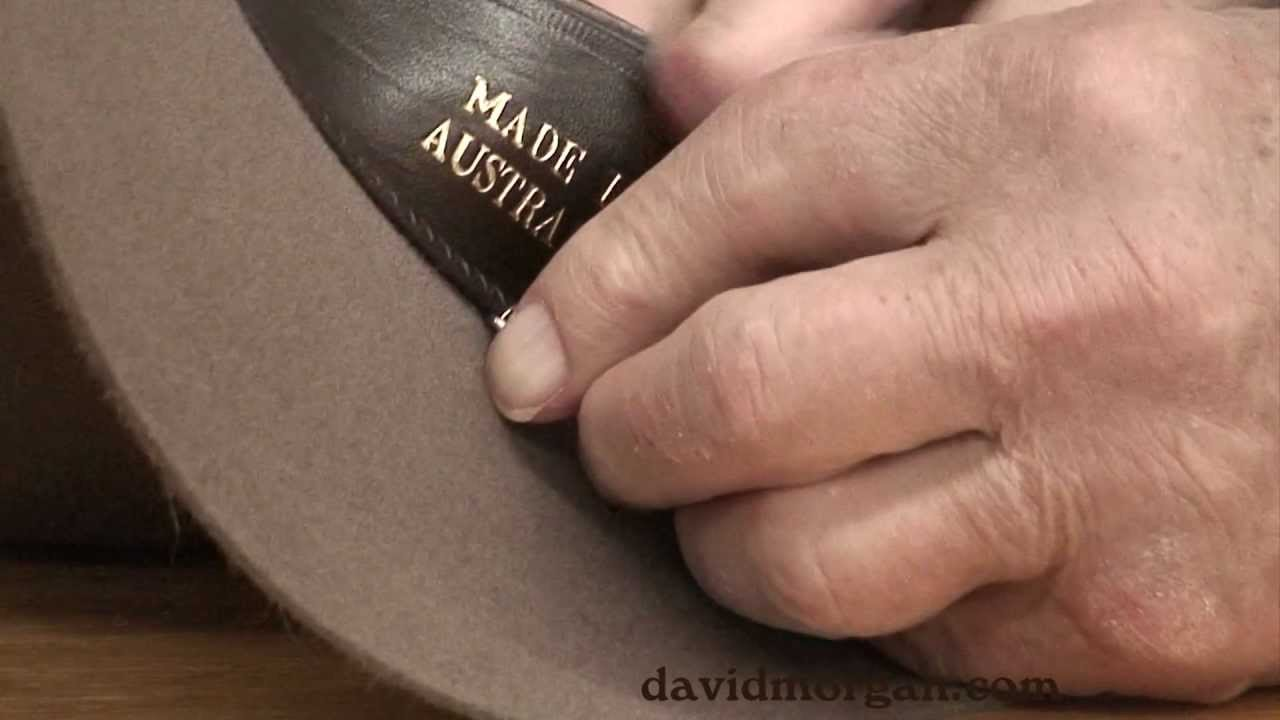 Attaching a stampede string to a hat  David Morgan Presents - YouTube d609a24b6cd