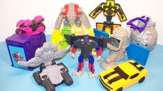 2009 TRANSFORMERS 2 REVENGE OF THE FALLEN SET OF 8 BURGER KING KIDS MEAL TOY S VIDEO REVIEW