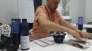 1 ч. Как вода влияет на обесцвечивающую смесь  Начало эксперимента