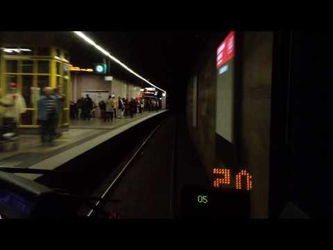 U Bahn Frankfurt am Main - U7 Mitfahrt (U5 Wagen)
