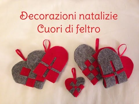 Tutorial cuori di feltro - YouTube