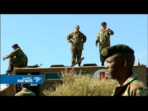 US, SA military personnel in a joint military exercise