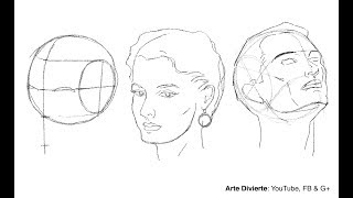 Cómo dibujar un rostro desde cualquier ángulo - Método de Andrew Loomis