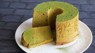 オイルフリー もっちり♡豆乳抹茶シフォン | Oil-free Matcha chiffon cake