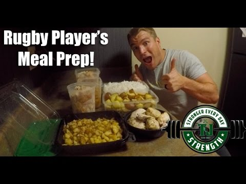 Rugby Player's Meal Prep - #RugLifeVlog - Meal Planning for Strength Gains