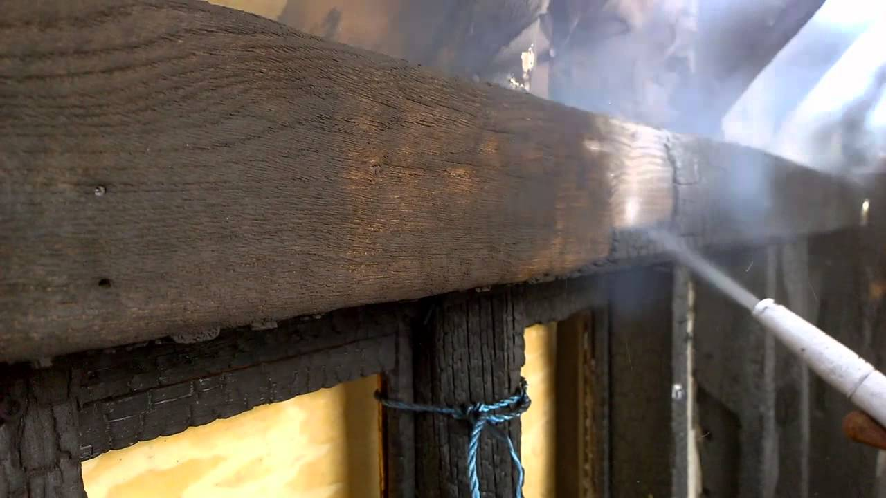 how to clean oak beams