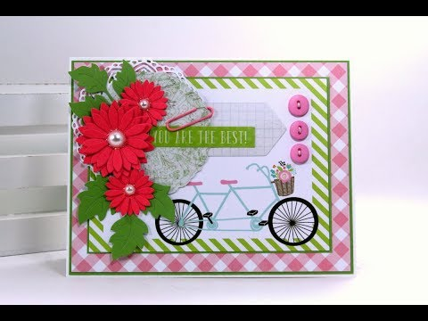 You Are The Best Greeting Card Tutorial Polly's Paper Studio Echo Park Process Easy DIY