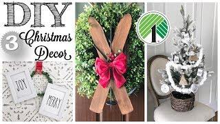DIY Dollar Tree Christmas Decor  3 PROJECTS