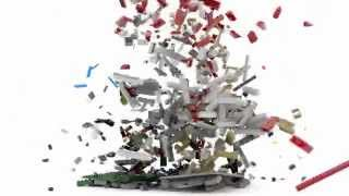 LEGO BLENDER - House explosion - Slow motion