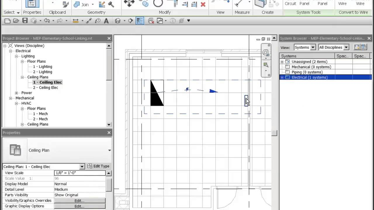 revit 2014 electrical power lighting wiring and circuits