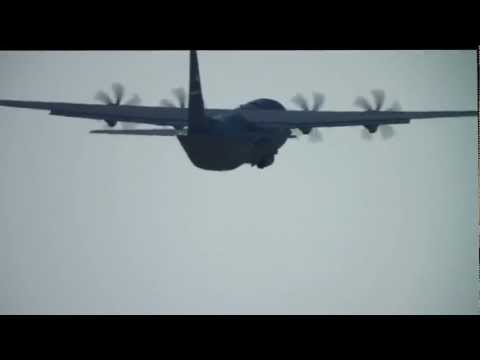 C-130 Plane Spotting Celestron 4SE Canon 500d in view for entire pattern!