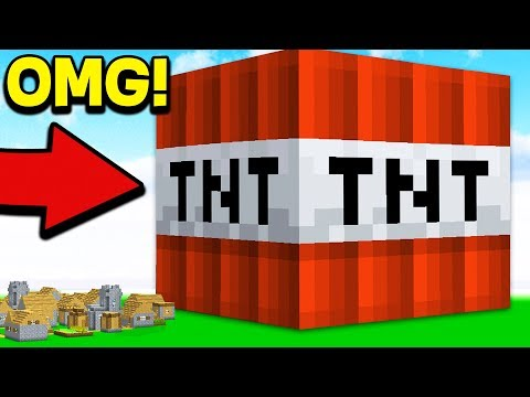 HOW TO LIVE INSIDE WORLD'S BIGGEST MINECRAFT TNT HOUSE!