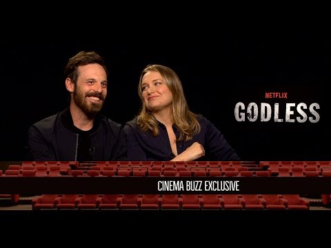 "Scoot McNairy & Merritt Wever Interview for ""Godless"""