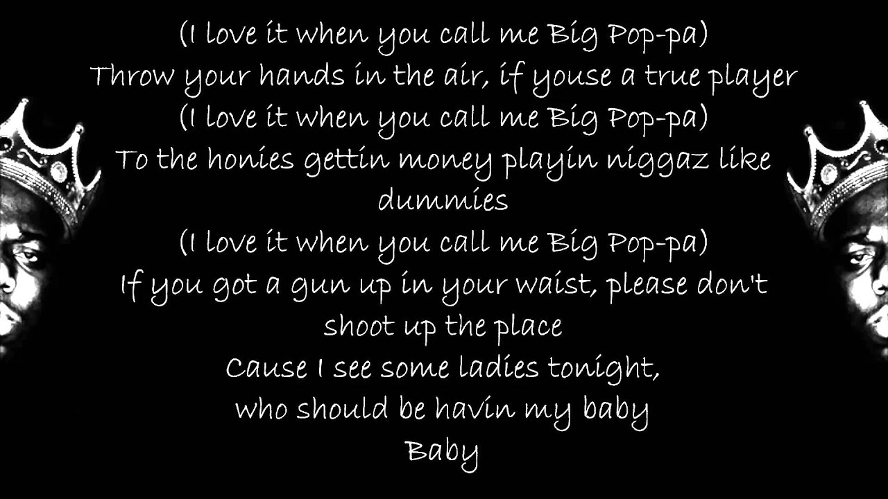 NOTORIOUS BIG - NOTORIOUS LYRICS