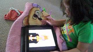 21 month old using iPad while potty training...thank you Apple