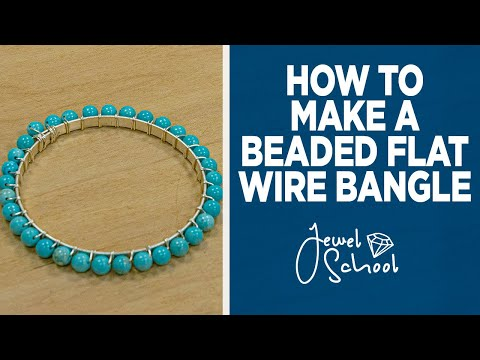 How to Make a Beaded Flat Wire Bangle