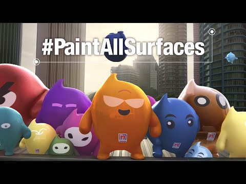 Nippon Paint Blobbies: The Unpaintable Challenge #PaintAllSurfaces