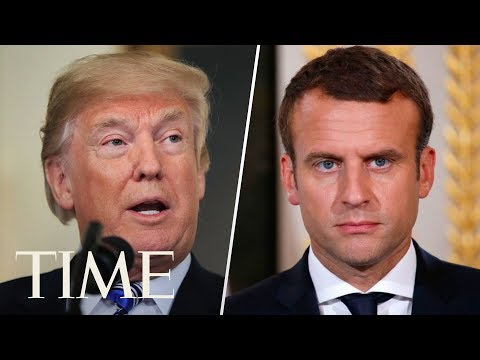 President Trump & Emmanuel Macron Hold Joint Press Conference During First State Visit | LIVE | TIME