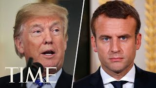 President Trump & Emmanuel Macron Hold Joint Press Conference During First State Visit | TIME